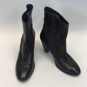 Alberto Fermani Chocolate Brown Leather Booties